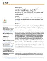 How Plant Neighborhood Composition Influences Herbivory