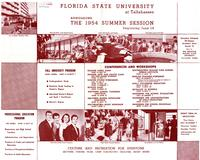 1954 Summer Session listing of conferences and workshops