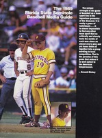 The 1989 Florida State Seminole Baseball Media Guide