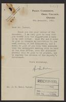 Letter to Dr. Turner from Alexander Paterson, 9th December 1941