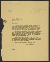 Letter to McNair from J.W.C. Turner, 11 November, 1941