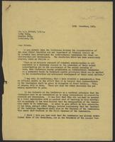 Letter to Dr. A. D. McNair, C.B.E., 18th December, 1941