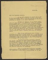 Letter to Sir Alexander Maxwell, November 15, 1941