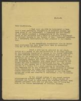 Letter to Alexander Paterson, Esq., November 15, 1941