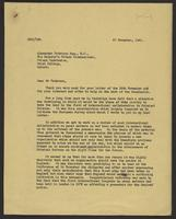 Letter to Mr. Paterson, 27 November, 1941