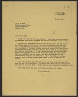 Letter to Dr. de Baer from J.W.C. Turner, 3 May, 1946