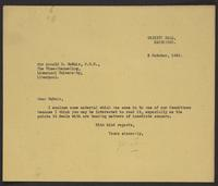 Letter to McNair from J.W.C. Turner, 2 October, 1944