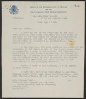 Letter to Mr. Turner from M. de Baer, 29th April, 1946