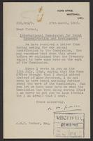 Letter to J.W.C. Turner from R. M. Jackson, 27th March, 1945
