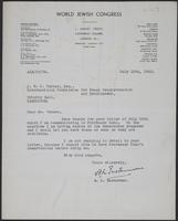 Letter to J.W.C. Turner from A. L. Easterman, July 15th, 1943