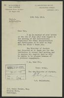 Letter to J.W. Cecil Turner from W.G. Belinfante, 12th July, 1943