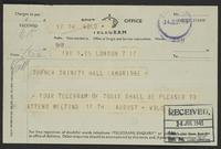 Telegram to Turner from Wold