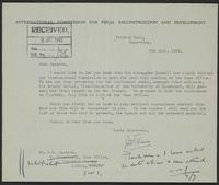 Letter to R.M. Jackson from J.W.C. Turner, 6th July, 1943