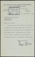 Letter to Mr. Turner from Terje Wold, 7th July, 1943