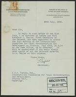 Letter to J.W.C. Turner, Esq., 26th July, 1943