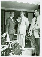 Adlai Stevenson, Bill Stephenson, and Bill Blair planning for the fall campaign