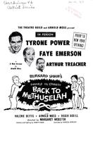 """Back to Methuselah"" (January 16, 1958)"