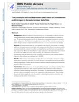 Anxiolytic and Antidepressant-like Effects of Testosterone and Estrogen in Gonadectomized Male Rats.