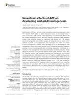 Neurotoxic effects of AZT on developing and adult neurogenesis.