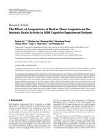Effects of Acupuncture at Real or Sham Acupoints on the Intrinsic Brain Activity in Mild Cognitive Impairment Patients.