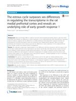 estrous cycle surpasses sex differences in regulating the transcriptome in the rat medial prefrontal cortex and reveals an underlying role of early growth response 1.