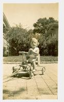 Young child on a cart