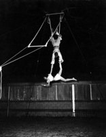Holding performer on the trapeze
