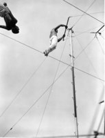 Leaping on the trapeze