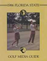 1986 Florida State Golf Media Guide