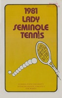 1981 Lady Seminole Tennis: Florida State University Intercollegiate Athletics for Women