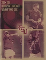 2003-2004 Florida State University Women's Tennis Guide