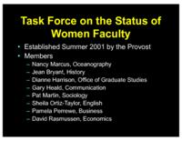Task Force on the Status of Women Faculty