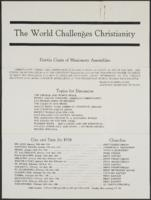 The World Challenges Christianity