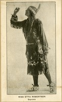 Etta Robertson in Native American Dress for Concert