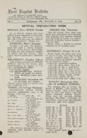 The First Baptist Bulletin