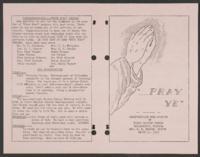 """...Pray Ye""- Crawfordville Road Baptist Mission of First Baptist Church"