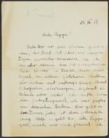 Letter from Franz Weill and Grete Weill to Giulia Kortischoner, 1939-04-25