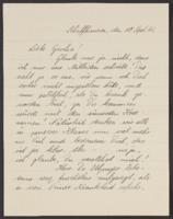 Letter from Erika Thäter to Giulia Kortischoner, 1941-09-10