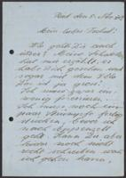Letter from Christine Frutig to Giulia Kortischoner, 1942-11-05