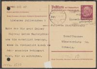 Letter from Paul Hasterlik to Giulia Kortischoner, 1940-03-22