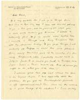 Letter to Dirac