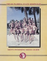 1985-86 Florida State Seminoles: Men's swimming media guide