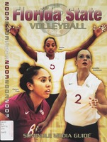 2003 Florida State Volleyball: Seminole media guide
