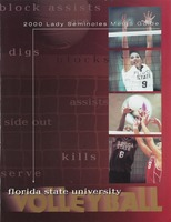 2000 Lady Seminole Media Guide: Florida State University volleyball