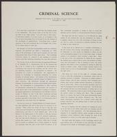 Criminal Science