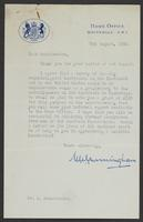Letter to Sir Leon Radzinowicz from Sir Charles Cunningham
