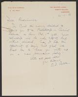 Letter to Leon Radzinowicz from Dr. E.D. Adrian