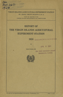 Report of the Virgin Islands Agricultural Experiment Station 1928