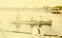 Students Canoeing at Camp Flastacowo