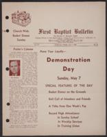 First Baptist Bulletin